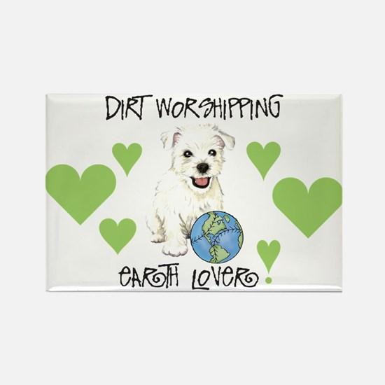 Earth Day Westie Rectangle Magnet