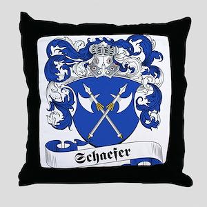 Schaefer Family Crest Throw Pillow