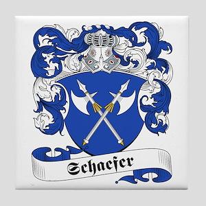 Schaefer Family Crest Tile Coaster