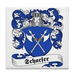 Schaefer Family Crest Tile Coaster
