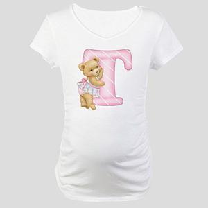 Teddy Alphabet T Pink Maternity T-Shirt