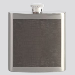 Gator Brown Leather Flask