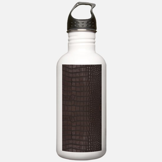 Gator Brown Leather Water Bottle