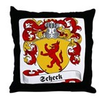 Scheck Family Crest Throw Pillow