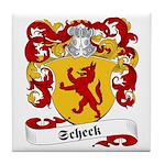 Scheck Family Crest Tile Coaster