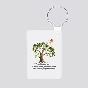 Kenyan Nature Proverb Aluminum Photo Keychain