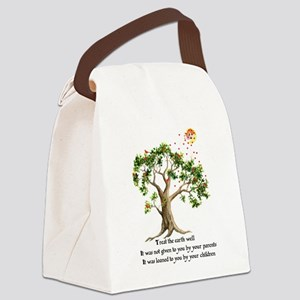 Kenyan Nature Proverb Canvas Lunch Bag