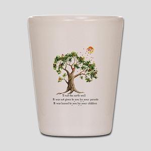 Kenyan Nature Proverb Shot Glass