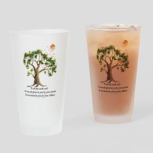 Kenyan Nature Proverb Drinking Glass
