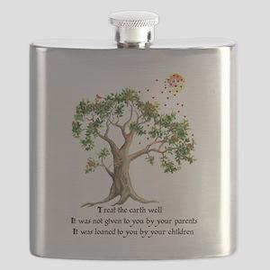Kenyan Nature Proverb Flask