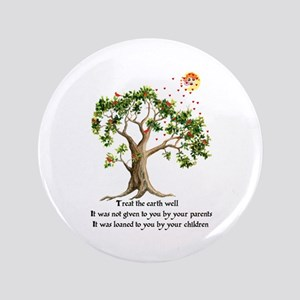 "Kenyan Nature Proverb 3.5"" Button"