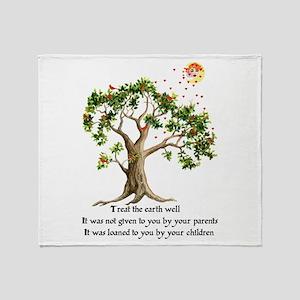 Kenyan Nature Proverb Throw Blanket