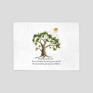 Kenyan Nature Proverb 5'x7'Area Rug
