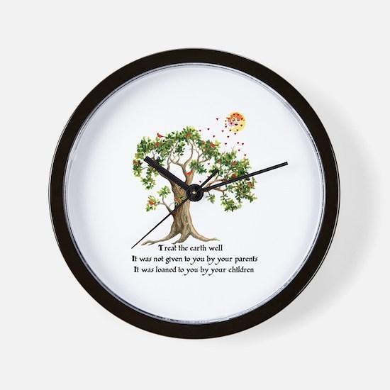 Kenyan Nature Proverb Wall Clock