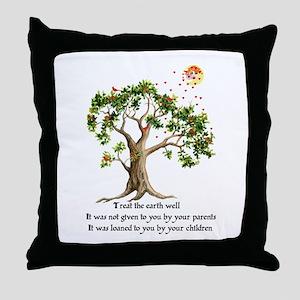 Kenyan Nature Proverb Throw Pillow