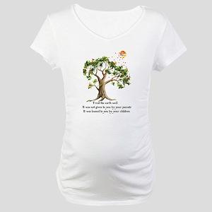 Kenyan Nature Proverb Maternity T-Shirt
