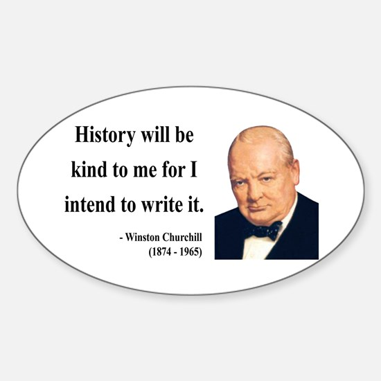 Winston Churchill 20 Oval Decal
