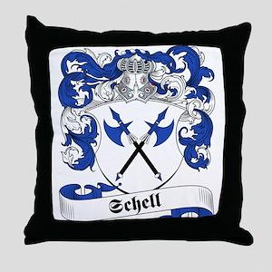 Schell Family Crest Throw Pillow