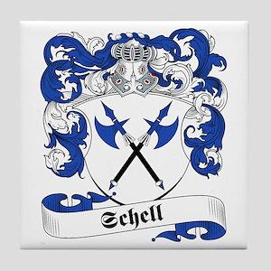 Schell Family Crest Tile Coaster
