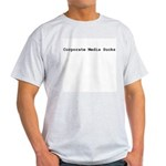 Corporate Media Sucks Ash Grey T-Shirt