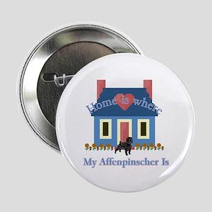 """Home Is Affenpinscher 2.25"""" Button (10 pack)"""