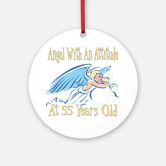 Angel Attitude 55th Ornament (Round)