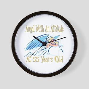 Angel Attitude 55th Wall Clock