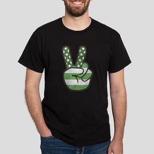 Green Peace Sign Dark T-Shirt