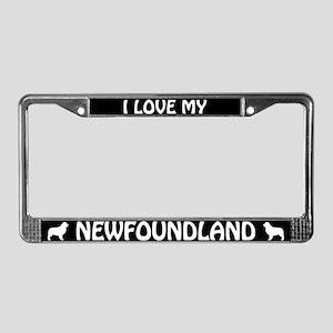 I Love My Newfoundland License Plate Frame