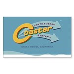 Cantilevered Coaster Sticker (Rectangular)