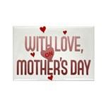With Love on Mother's Day Rectangle Magnet