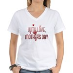 With Love on Mother's Day Women's V-Neck T-Shirt