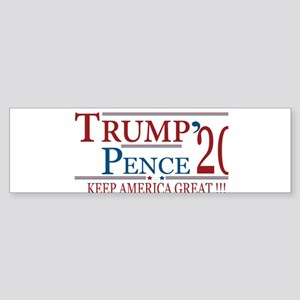 TRUMP | Trump Pence 2020 Keep Ameri Bumper Sticker