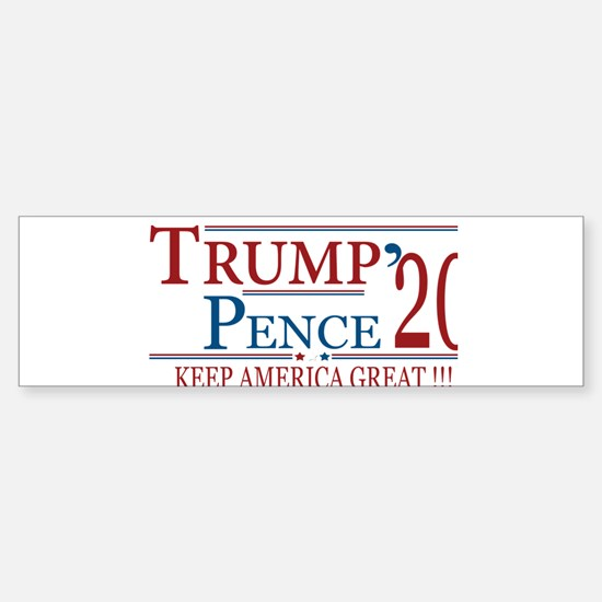 TRUMP   Trump Pence 2020 Keep Ameri Bumper Bumper Bumper Sticker
