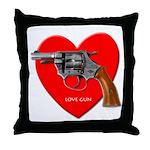 Love Gun Shirt Design Throw Pillow