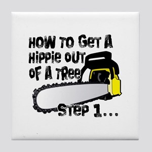 Got Hippies In Your Trees? Tile Coaster
