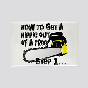 Got Hippies In Your Trees? Rectangle Magnet