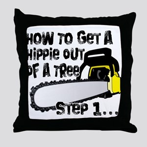 Got Hippies In Your Trees? Throw Pillow