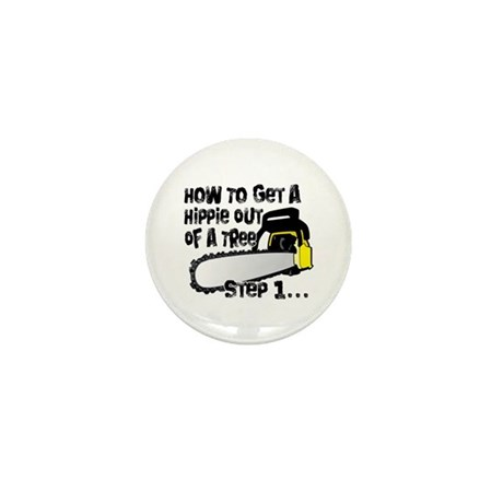 Got Hippies In Your Trees? Mini Button (10 pack)