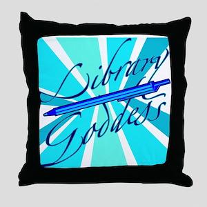 Library Goddesses Throw Pillow
