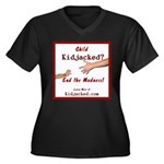 End the Madness Women's Plus Size V-Neck Dark T-Sh