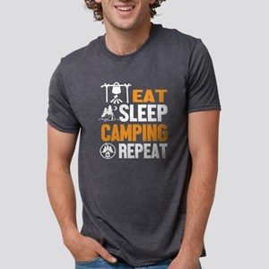 Eat Sleep Camping Repeat T Shirt T-Shirt