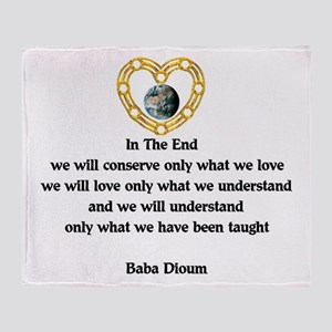 Baba Dioum Quote Throw Blanket
