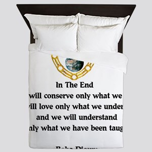Baba Dioum Quote Queen Duvet