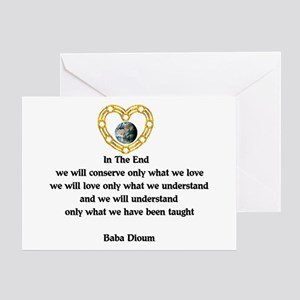Baba Dioum Quote Greeting Card