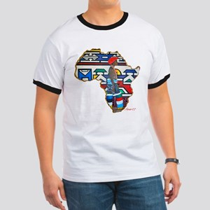 Ndebele Girl White T-Shirt