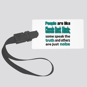 People are like Classic Rock Large Luggage Tag