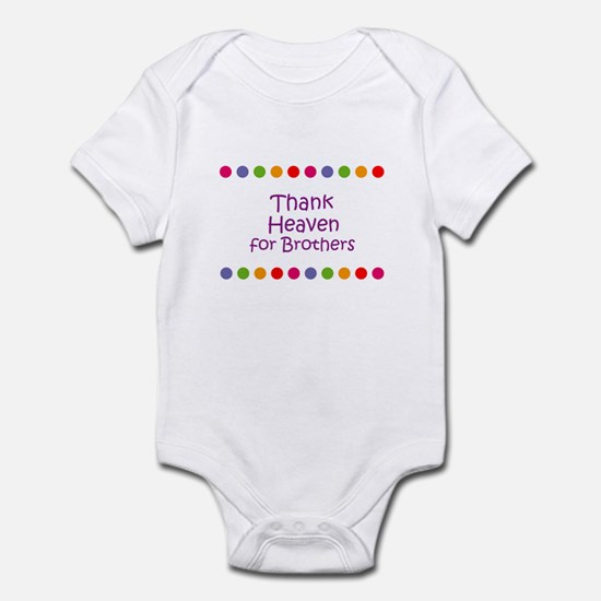 Thank Heaven for Brothers Infant Bodysuit