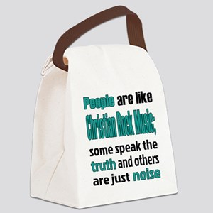People are like Christian Rock Canvas Lunch Bag