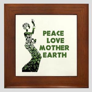 Peace Love Mother Earth Framed Tile